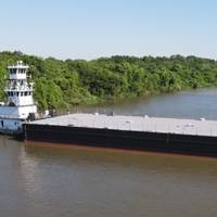 The first of four spud barges delivered to McDonough Marine Service by Conrad Shipyard (Photo: Conrad Shipyard)
