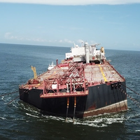 The FSO Nabarima listing in the Gulf of Paria on October 16 (Photo: Fishermen and Friends of the Sea)