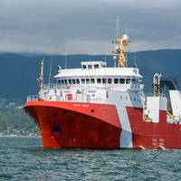 The future CCGS John Cabot begins sea trials (Photo: Seaspan Shipyards)