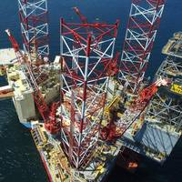 The image shows Maersk Drilling's rig Integrator. Photo Credit: Maersk Drilling