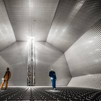 The inside of a GTT cryogenic membrane tank. Photo: Wärtsilä