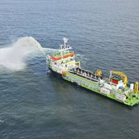 The Isandlwana, a Trailing Suction Hopper Dredger. (Photo: TNPA)