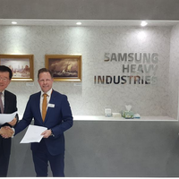 The Joint Development Project was signed by Jin-Taek Jung; Executive Vice President, Engineering & Procurement Operations, SHI and Timo Koponen; Vice President, Processing Solutions, Wärtsilä Marine. (Photo: Wärtsilä)