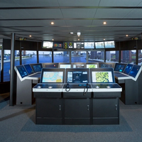 The K-Sim Navigation class A ship's bridge simulator installed at Simwave is now fully operational 24/7 (Photo: Kongsberg)