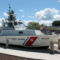 The last operational Coast Guard 41-foot patrol boat rests at the Door County Maritime Museum in Sturgeon Bay, Wisc. (USCG photo by Tom Morrell)