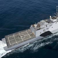 The littoral combat ship USS Freedom (LCS 1). (Photo courtesy of IntelliJet)