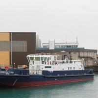 The London Titan in build at Manor Marine (Photo courtesy of Seawork International)