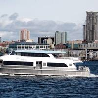The maiden voyage of the MV Sally Fox (photo courtesy of All American Marine)