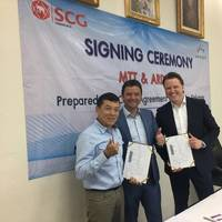 The Map Ta Phut Tank Terminal Company (MTT) signed an official preparedness framework agreement with Ardent. Ffrom left: Polshom Chan-urai, Managing Director from MTT; Bas Michiels, Ardent's Asia Commercial Director; and Oliver Timofei, Ardent's Director of Emergency Management. (Photo: Ardent)