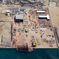 The McDermott Altamira yard on the Gulf of Mexico coast is the first fabrication facility licensed to operate as a free trade zone in Mexico. (Photo copyright McDermott International, Inc.)