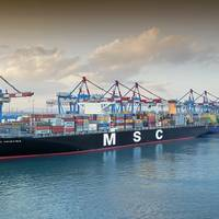 The MSC Christina (CREDIT: Haifa Port)