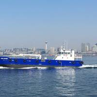 The new bunkering vessel Global Provider has been delivered to Maxum Petroleum for operation in the Pacific Northwest. (Photo: EBDG)