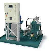 The new GEA Westfalia Separator CatFineMaster consists of a separator as the core element as well as a feed pump which is adjustable in the process for optimum adjustment of the flow quantity of the heavy fuel oil. The new control generation GEA Westfalia Separator IO automatically regulates the desired program with one touch.