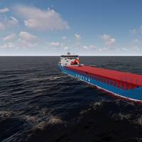 The new hybrid coastal bulk carrier is being built in China for Arriva Shipping. (Photo: Arriva Shipping)