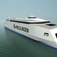 The new Molslinjen high-speed ferry (Image: Wärtsilä)