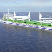 The new Oshima design could be used for a wide range of trades, carrying project cargoes and packaged goods, ranging from lumber, wood pulp and coils, to ingots and other bulk cargoes. (Image: DNV GL)