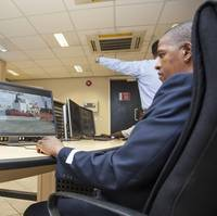The newly renovated control room at the Port of Durban boasts state-of-the-art video walls for added visibility across the port.