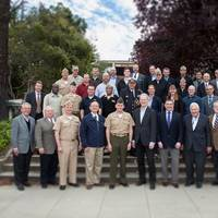 The participants at the Littoral Operations Center inaugural wargame planning workshop in Monterey, California. (U.S. Navy photo by Javier Chagoya)