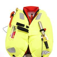 The Premier Kru Falcon Lifejacket from Ocean Safety featuring the Kannad R10 AIS SRS and the AQ98 lifejacket light.