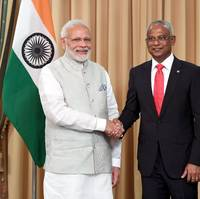 The Prime Minister, Narendra Modi meeting the President of Maldives, Ibrahim Mohamed Solih, in Male, Maldives on November 17, 2018. Photo: Press Information Bureau