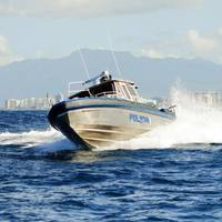 The Puerto Rico Police Department's new Metal Shark 35 Defiant, operating off the coast of San Juan. (PRPD Photo)