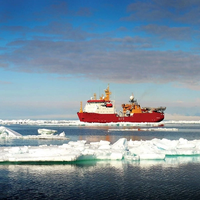 The Royal Navy polar research vessel HMS Protector is equipped with seven davits from Vestdavit. Photo: Courtesy of the Royal Navy.