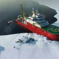 The RRS Sir David Attenborough, Britain's new polar research vessel: the naming ceremony for the ship will be held at shipbuilder Cammell Laird's yard in Birkenhead, England on September 26.  (Photo: British Antarctic Survey)