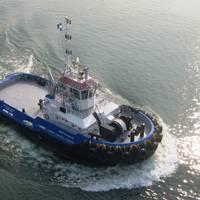the 'RUA Cap. Lucio R', a Damen ASD 2810 tug.