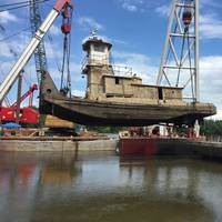 The salvage operation on the Illinois River is now complete. Image: USCG