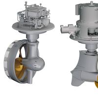 The Schottel Rudderpropeller (SRP), left, and the Schottel EcoPeller (SRE) (Image: Schottel)
