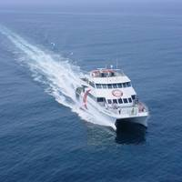 The seasonal ferry underway (CREDIT: Cross Bay Ferry)