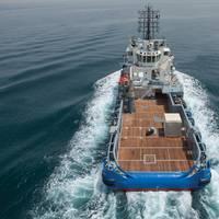 The Seismic Support Vessel Bourbon Petrel at sea.  (Photo: Bourbon)