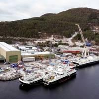 The shipyard in Leirvik. Photo: Uavpic