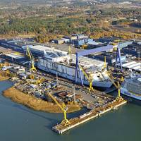 The shipyard in Turku, which builds post-Panama class cruise vessels, is one of the biggest and most modern in Europe with a land area of 144 ha and a new building dock measuring 365 x 80 meters. (Photo: STX Finland)