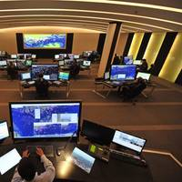 The Singapore Port Operation Control Centre uses Kongsberg Norcontrol IT's C-Scope technology.