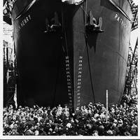 The S.S. Patrick Henry was the first of the Emergency Class Liberty  ships to be built and launched. The  famous quote by its namesake helped to give this class of ships its name. (Photo Credit: Library of Congress)
