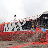 The Stena Impero naming ceremony ended with confetti (Photo: Stena Bulk)