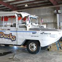 The Stretch Duck 7, a modified WWII DUKW amphibious passenger vessel, shown in this July 25, 2018 after it was recovered from Table Rock Lake near Branson, Mo. following its sinking during a heavy-winds storm July 19, 2018. (Photo: NTSB / Brian Young)