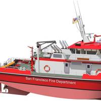 """The """"super pumper"""" fireboat is to enhance San Francisco's marine fire fighting and response capabilities on water including high-volume water pumping, firefighting, rescue, emergency medical service and patrol in the waters of San Francisco and San Pablo Bays and the Pacific Ocean within five miles of shore and the adjoining inland waterways."""