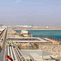 The terminal consists of a tank farm and offshore facilities to receive, store, and load Arabian Light and Arabian Super Light crude oil. Image: Saudi Arabian Oil Co.