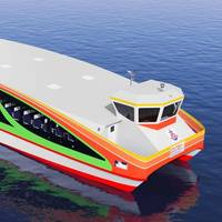 The winner of the 2017 WFSA contest, a ferry designed specifically for Bangkok (CREDIT: WFSA)