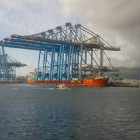 The Zhen Hua 25 at berth in the Port of Alegciras (Credit ISS)