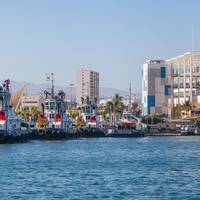 Three tugboats of the Boluda Towage and Salvage fleet in the port of Las Palmas, where the VB TAMARAN will be added once painting is completed. Image:  Boluda Corporación Marítima