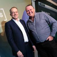 Tim Mitchell CEO of Iqarus (left) with Dougie Collin of C-CHEC (right)