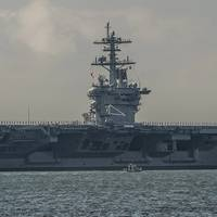 Newport-News-built aircraft carrier USS Theodore Roosevelt (Photo courtesy Huntington Ingalls Industries, by Ricky Thompson)