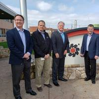 Tony Capasso, third from left; and Oliver Ferguson, right. Representing ARG's Leadership Team were (from left), Vice President – Sales & Marketing John Malone, Vice President – Research & Development David Krantz and President and Chief Operating Officer Jon Giberson.  (Photo: Sea Ready Marine Petroleum)