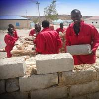 "Trainees in Ely, Somalia participate in a vocational training as part of the Joint Shipping Initiative funded UNDP ""Alternative Livelihoods to Piracy in Puntland and Central Regions of Somalia"" programme. The programme has trained over 500 Somalian youths in a range of skills to equip them for a life other than piracy."