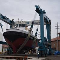 Travelift Hull 9201: Photo credit Great Lakes Shipyard