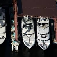 Trinity Yachts, 2012 Launch Line Up, Gulfport, Mississippi Shipyard (photo: courtesy Trinity Yachts)