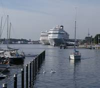 Two cruise vessels at Ostseekai. (Photo courtesy: Port of Kiel)